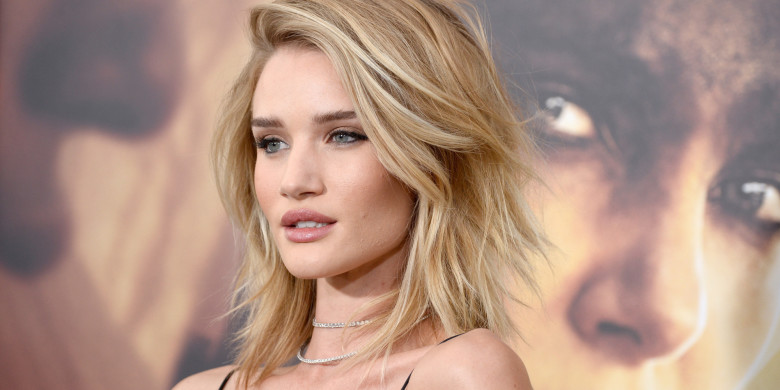 "HOLLYWOOD, CA - MAY 07:  Actress Rosie Huntington-Whiteley attends the premiere of Warner Bros. Pictures' ""Mad Max: Fury Road"" at TCL Chinese Theatre on May 7, 2015 in Hollywood, California.  (Photo by Frazer Harrison/Getty Images)"