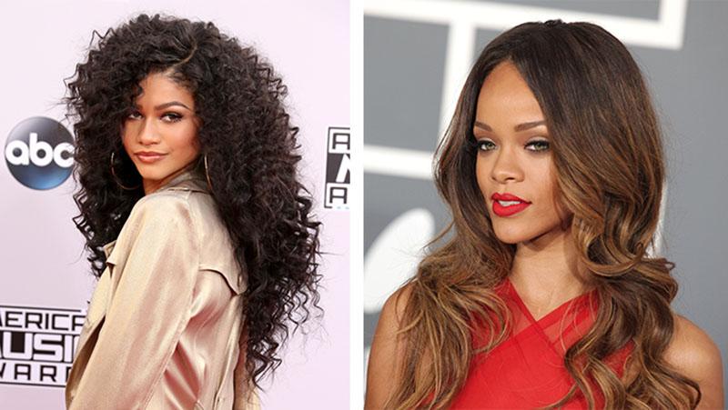 Zendaya e Rihanna longo em camadas