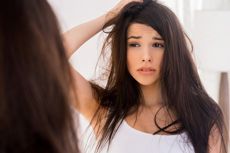 cabelo danificado ou envelhecido